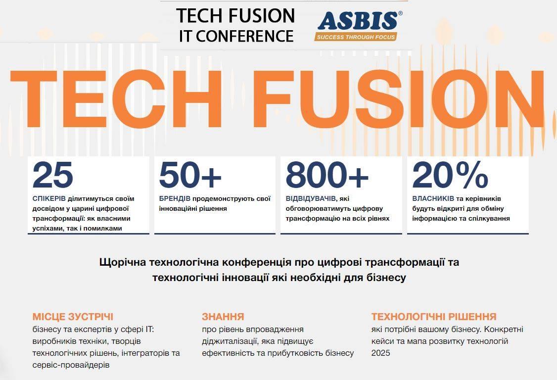 Приглашаем на конференцию Tech Fusion 10.10.2019